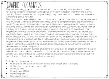 Graphic Organizers for fiction and non fiction reading