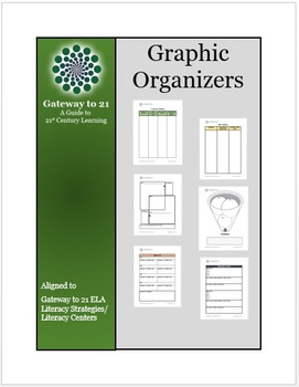 Graphic Organizers (Aligned to our Common Core ELA Strategies/Literacy Centers)