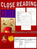 Close Reading - Aligned with Holes by Louis Sachar