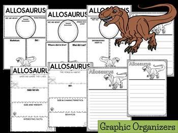 Graphic Organizers: Allosaurus : Dinosaurs