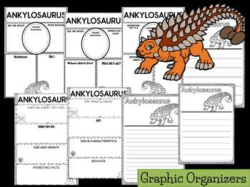 Graphic Organizers: Ankylosaurus :  Dinosaurs