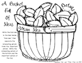 """Graphic Organizers """"Basket Full of Ideas""""  Main Idea and Details Fall"""