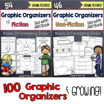 Reading Graphic Organizers for Fiction and Non-Fiction Bundle