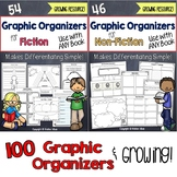 Reading Comprehension Graphic Organizers for Fiction and Non-Fiction Bundle