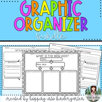 Graphic Organizers Bundle - 5 Paragraph Essay organizers a