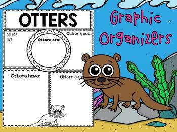 Graphic Organizers Bundle : Otters : Sea Ocean Animals, Report, Mammals