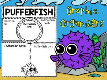Graphic Organizers Bundle : Pufferfish : Sea Ocean Animals, Blowfish