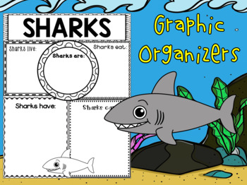 Graphic Organizers Bundle : Sharks : Sea Ocean Animals, Report, Research, Unit