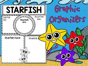 Graphic Organizers Bundle : Starfish  : Sea Ocean Animals, Report, Research
