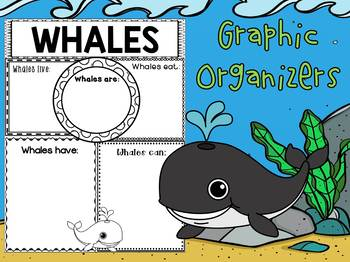 Graphic Organizers Bundle : Whales : Sea Ocean Animals, Report, Research