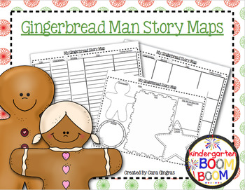 Graphic Organizers - Christmas - Gingerbread Man {K, First Grade)