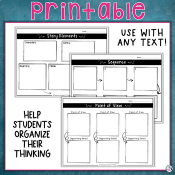 Reading Wonders Graphic Organizers - Common Core Aligned
