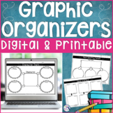 Reading Graphic Organizers - Digital and Printable