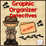GRAPHIC ORGANIZERS:  Mystery Book Detective Theme