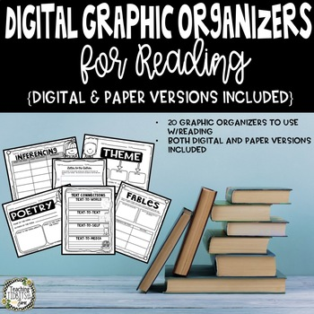 Graphic Organizers, Digital Graphic Organizers, Graphic Organizer for Reading