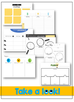 Graphic Organizers (Digital and Hardcopy) *Growing Bundle*