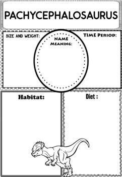 Graphic Organizers: Dinosaurs : Pachycephalosaurus