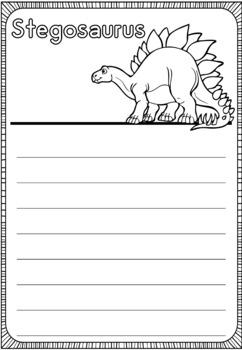 Graphic Organizers Bundle : Dinosaurs : Stegosaurus