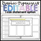 Graphic Organizers (Editable I Can Statements) Pearson ReadyGEN