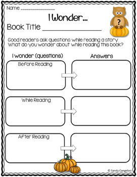 GOOGLE DRIVE™ GRAPHIC ORGANIZERS WITH FALL THEME