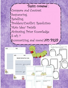 Graphic Organizers Fiction and Non-Fiction 65 (Aligned with The Common Core)