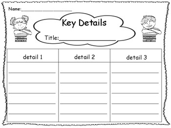 Graphic Organizers First Grade