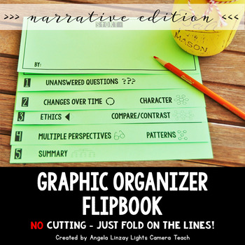 Graphic Organizers Flipbook: Narrative  {EDITABLE COVER}