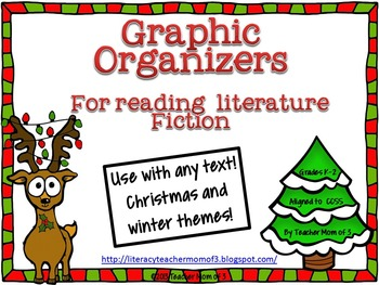Graphic Organizers for Literature Fiction Reading Christmas Winter