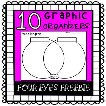 Graphic Organizers {Four-eyes Freebie}