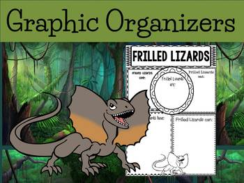 Graphic Organizers: Frilled Lizards - Oceania Animals : Au