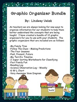 Graphic Organizers Galore - Kindergarten through 2nd grade