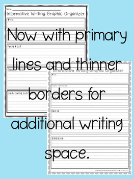 Graphic Organizers (Informative Writing)