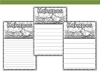 Graphic Organizers Bundle : Kakapos - Oceania Animals : Madagascar, Australia