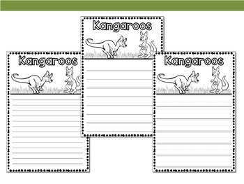 Graphic Organizers Bundle : Kangaroos - Animals : Australia, New Zealand