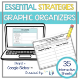 Graphic Organizers Language Strategies Speech Therapy + for Google Slides™️