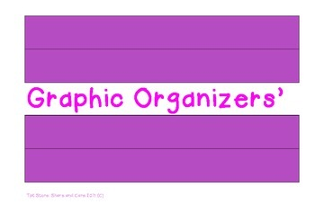 Graphic Organizers : Literacy & Science