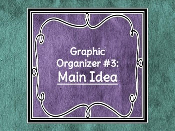 Graphic Organizers: Main Idea