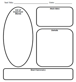 Graphic Organizers for Note Taking