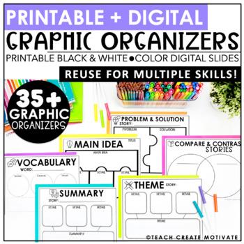 Digital Graphic Organizers | Reading | Writing