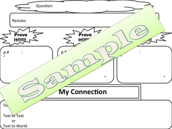 Open-Ended & Constructed Response Question/Persuasive Essay Graphic Organizers