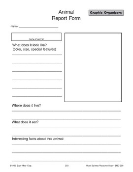 Graphic Organizers: Research Note taker, Record Sheet, Report Form