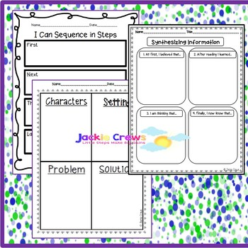 18 Basic Graphic Organizers