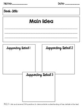 Graphic Organizers: Second Grade Literature and Informational Text