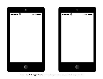 Graphic Organizers Story Elements Smartphone Printables and Clip Art