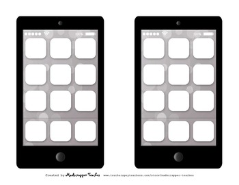 Graphic Organizers Story Elements Smartphone Printables an