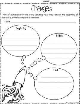 Graphic Organizers for Under the Sea