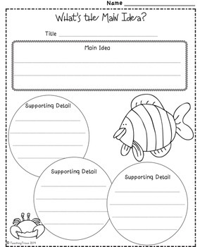Graphic Organizers - Under the Sea theme (sampler)