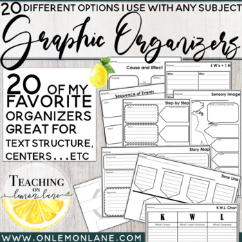 Graphic Organizers *Use with Any Subject (20 Different Versions)