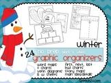 Graphic Organizers {NO PREP}  Winter: KWL, Venn diagrams, T charts