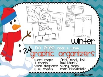 Graphic Organizers {NO PREP}  Winter: KWL, Venn diagrams,